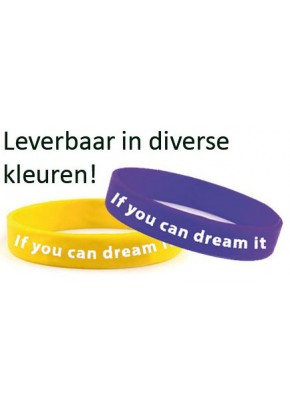 Stoer armbandje 'IF YOU CAN DREAM IT, YOU CAN DO IT!'